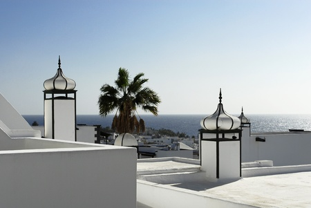 turreted: Puerto Del Carmen, Lanzarote, Canary islands, Spain