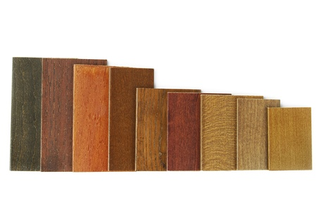 louver boards: wood color samples Stock Photo