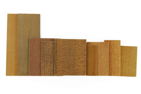 louver boards: wood colour and texture samples