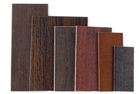 louver boards: wood color and texture samples