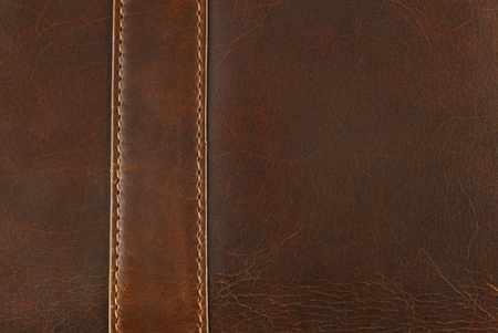 worn:  leather texture with seam