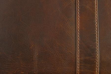 leather stitch: leather texture with seam