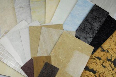 plastic marmeren panelen monsters