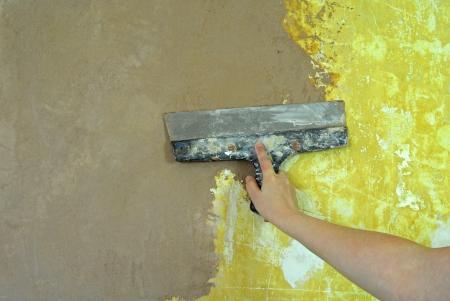 refit: plaster filling wall repair