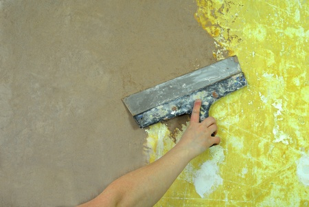 putty knives: plaster filling wall repair