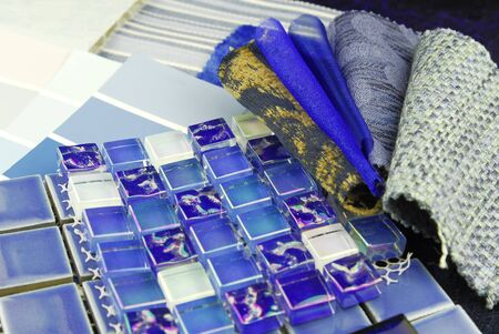 repair decoration planning upholstery tiles  tapestry color selection  photo
