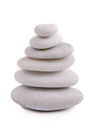 Zen stones isolated photo