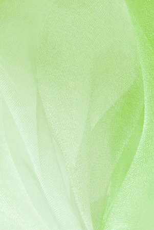 green organza fabric texture photo