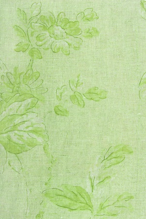 green linen fabric texture photo