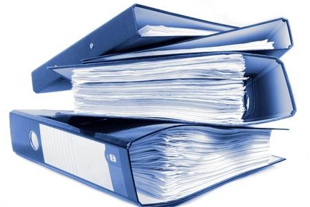 registros contables: carpetas de la oficina
