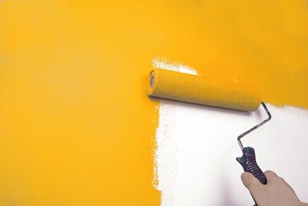 hand schilderij muur