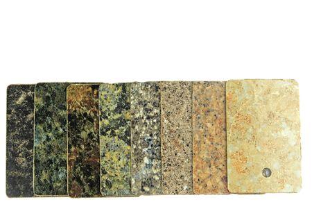 worktop: kitchen worktop samples Stock Photo