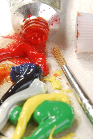 oil paint mixing photo