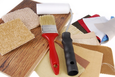 paint and material color choosing for interior decoration and improvement photo