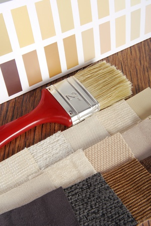 upholstery and paint color choosing for interior  photo