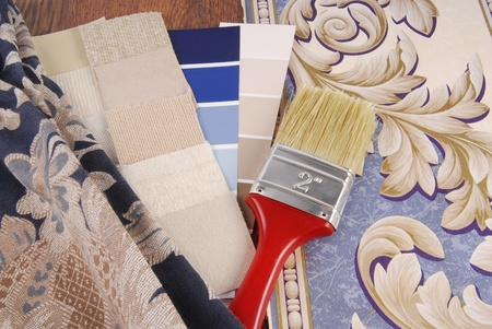 material color choosing for interior decoration photo