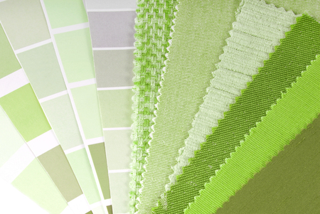 upholstery,curtain and color selection for interior photo