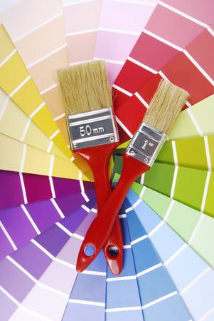 sampler: color guide sampler and paintbrush