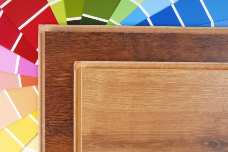 laminate and color chart photo