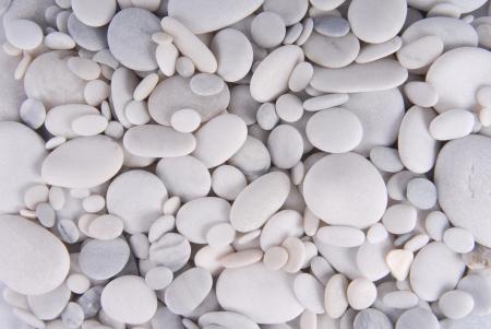 白い小石石の背景