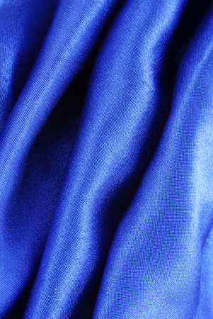 creasy: blue silk fabric texture Stock Photo