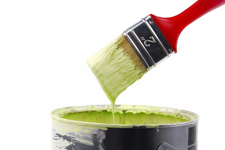 paint brush and can with paint Stock Photo - 22933299