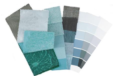 kleurkeuze voor het interieur op wit wordt geïsoleerd Stockfoto
