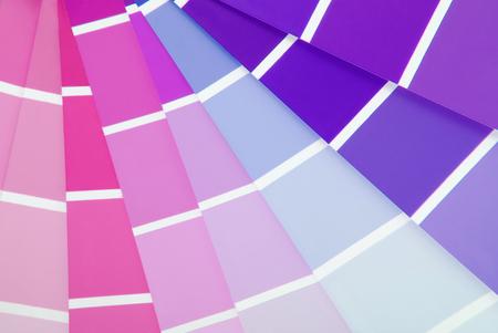 sampler: color chart guide sampler Stock Photo