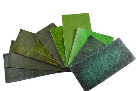 upholsterer: leather sample selection