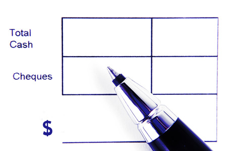 total cash form and pen isolated photo