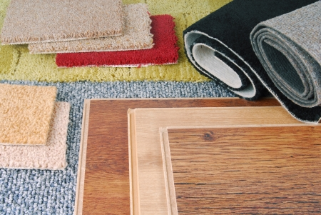 carpet and laminate choice for interior Stock Photo - 23314669