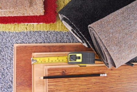 carpet and laminate choice for interior photo