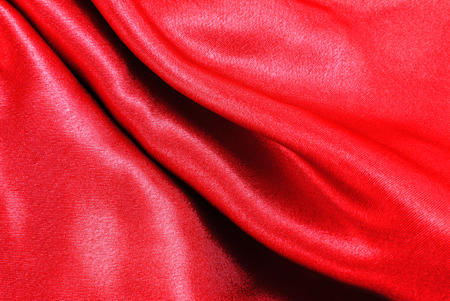 creasy: red silk fabric texture Stock Photo