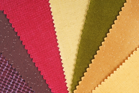 fabric material choice for home interior Stock Photo