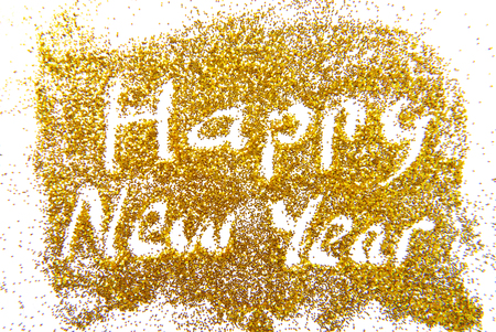 Happy New Year golden glittering background photo