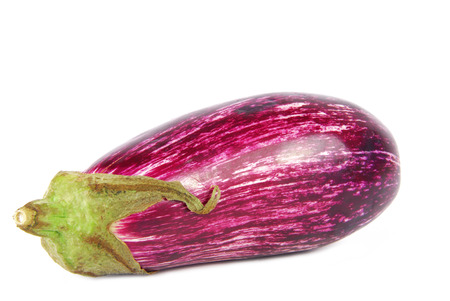 graffiti eggplant aubergine striped  isolated on white photo