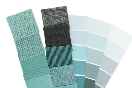 blue mint upholstery tapestry color selection for interior photo