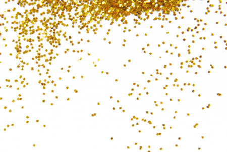 sparkles: golden glitter frame background