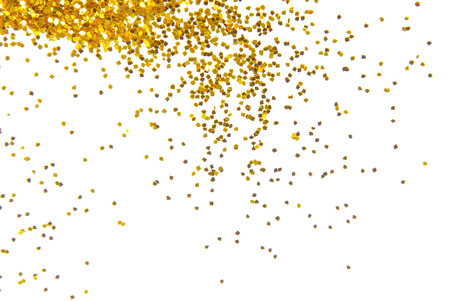 황금 반짝이 프레임 배경