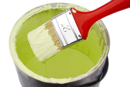 paint can and paint brush photo