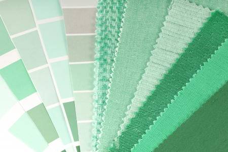 mint green upholstery,curtain and color selection photo