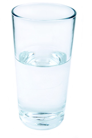 glass of water isolated photo