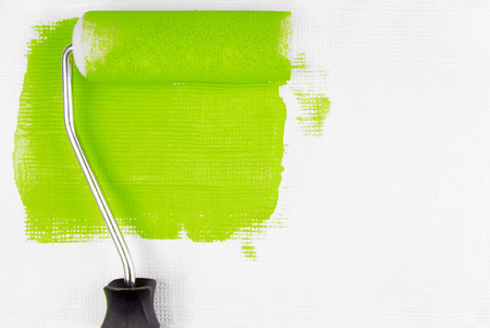 paint samples:   paint wall with paint roller