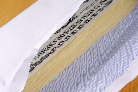 Dollars in an envelope photo