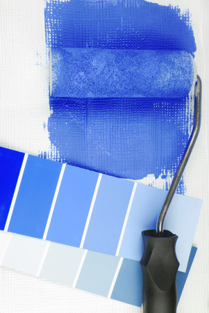 paint roller and color chart choice photo