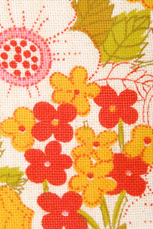 floral fabric texture macro background photo
