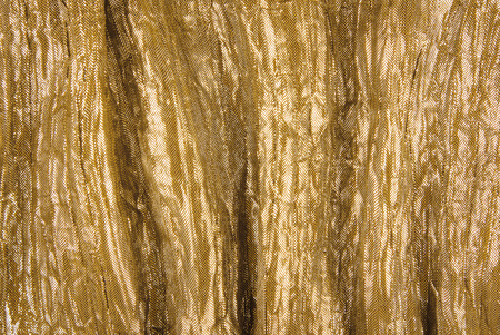 silken: closeup of golden fabric texture Stock Photo
