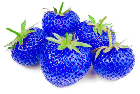 blaue Erdbeere isoliert auf weiß Stockfoto - 29457746
