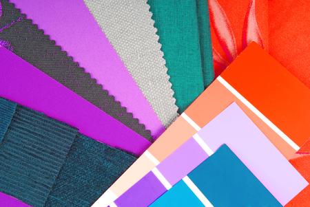 color design cloth selection for interior photo