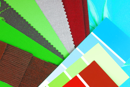 color design cloth selection for interior photo